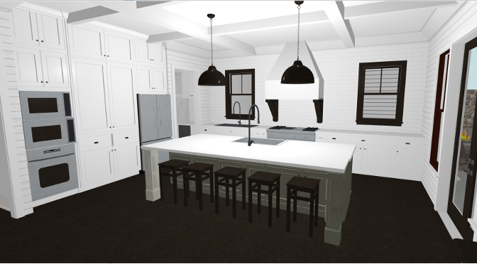 5. Design kitchen and cabinet layouts