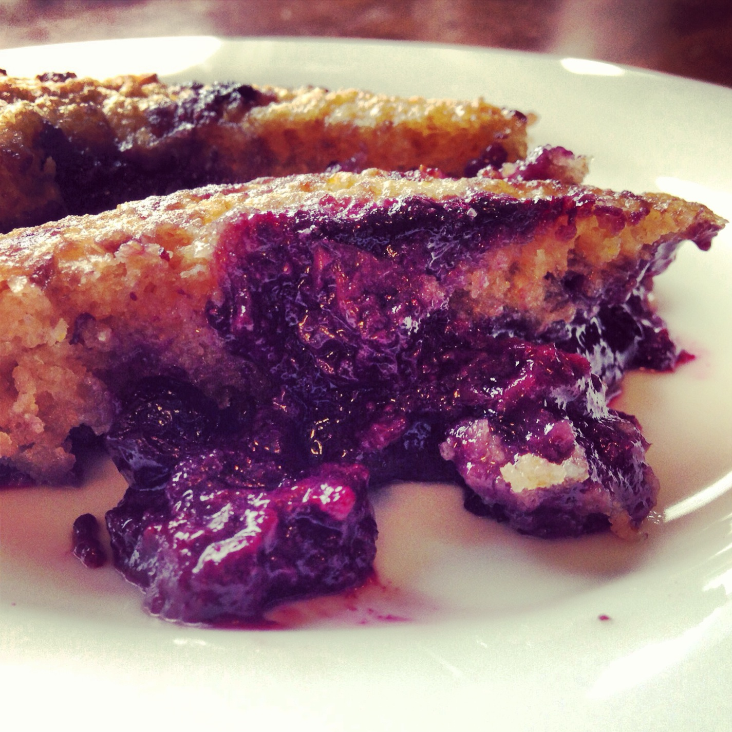 Blueberry Cobbler with Flax and Chia