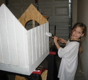 Haven painting the dog house