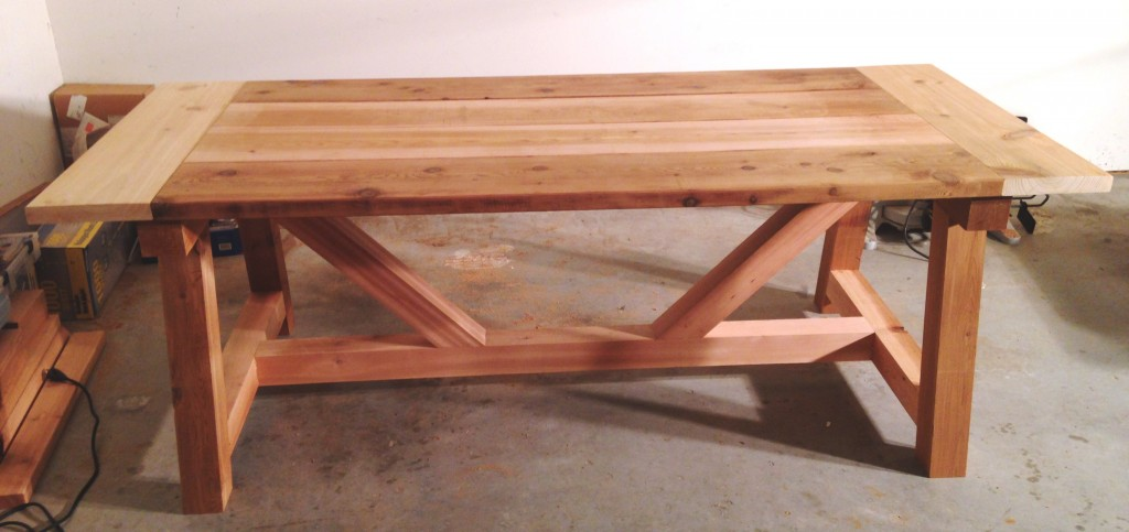 Finished Ana White 4x4 Truss Table Pre Stain