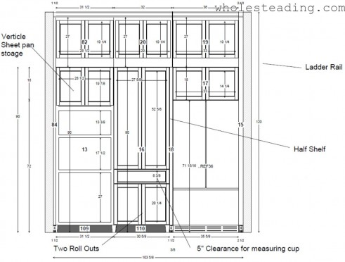 Fridge Wall Cabinet Configuration (Baking station is in the middle)