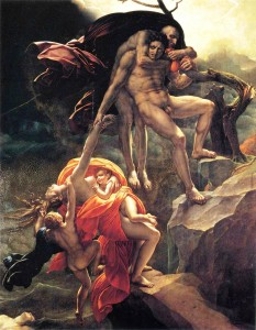 Anne-Louis Girodet – The Deluge (1806) oil on canvas - Mannah and I saw this painting while in Paris during our tour of the Louvre