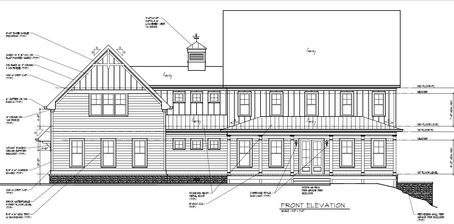 Floor And Elevation Plans : Final elevations and floor plans new design