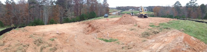 Basement Excavation Panorama from above grade