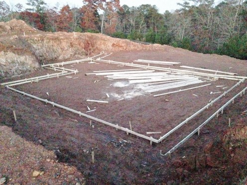 Basement Footings - Concrete Forms Installed