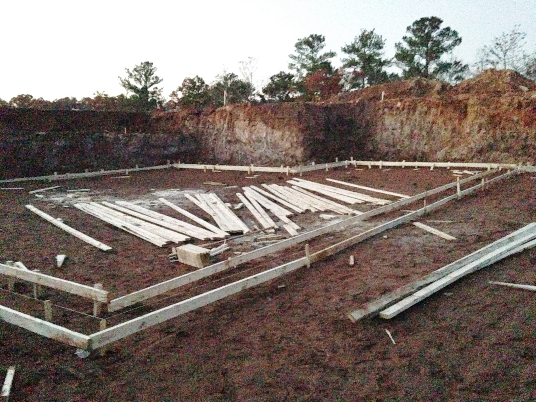 Basement footings for Basement forms