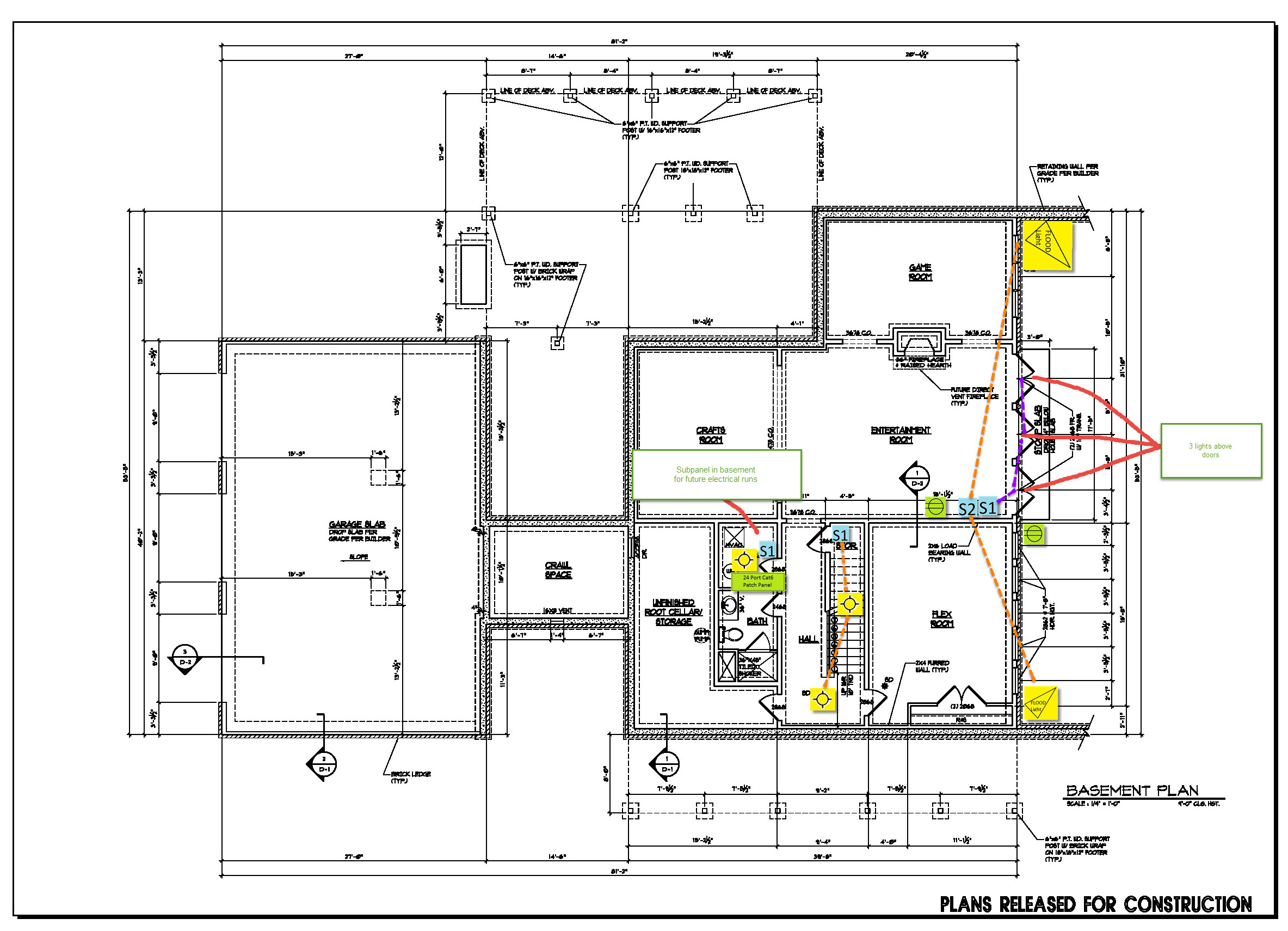electrical plan basement wiring librarybasement floor electrical plan