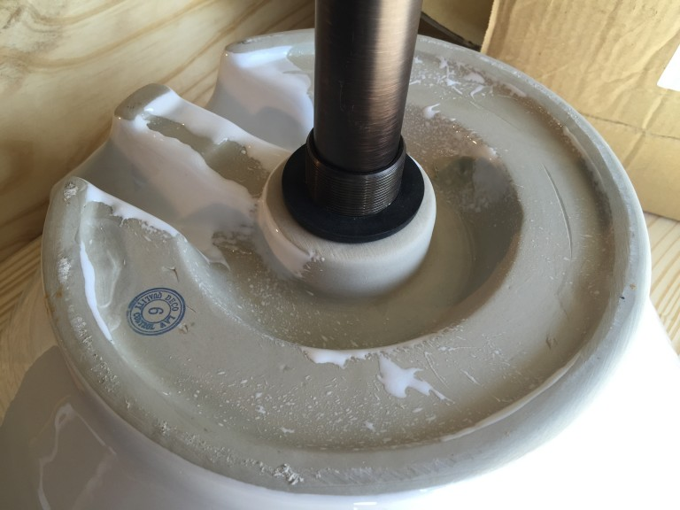 Attach the drain to the vessel sink