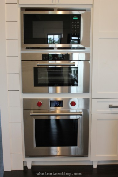 Wolf Microwave, Convection Steam Oven, and Wall Oven