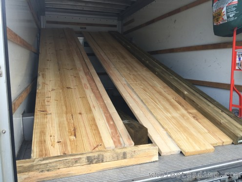 Picking up the wood from Lowe's in a rented 17' U-Haul truck