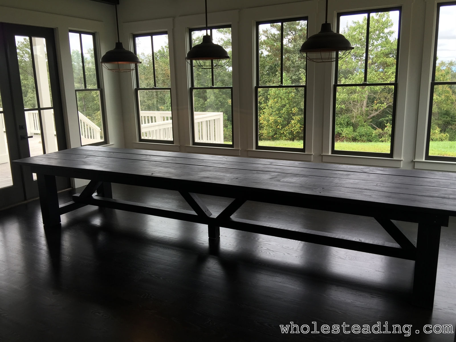 Farmhouse dining room table for Dining room farm table