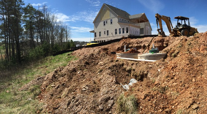 Septic System Installed