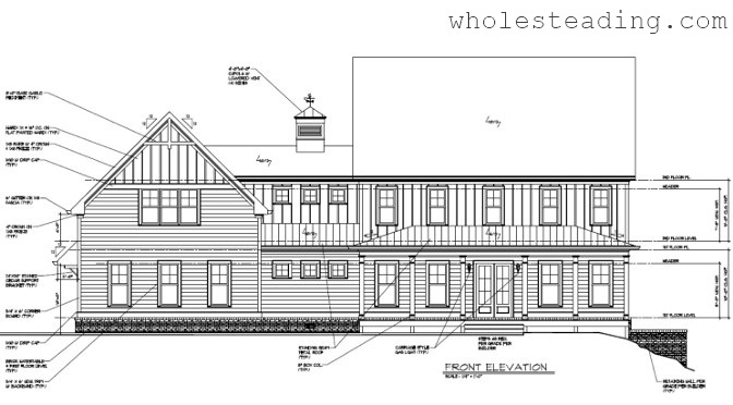 Final Elevations and Floor Plans (New Design)