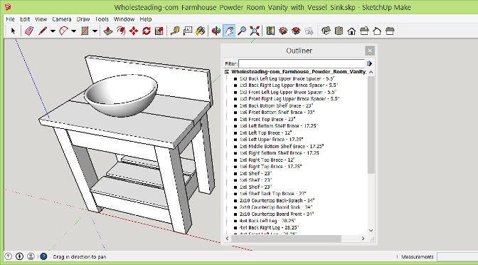 SketchUp Tutorial for Woodworking Projects