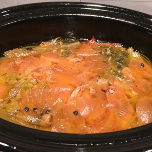 Making Chicken Stock: Add Bones and Skin Back to Pot and Simmer for 24 hours