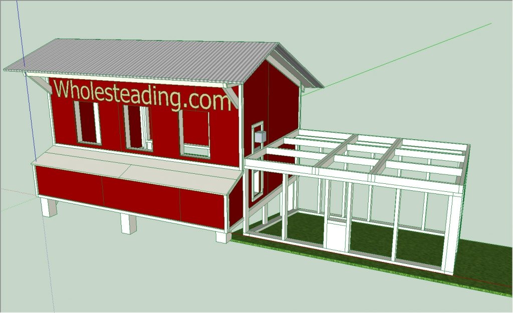 SketchUp Chicken Coop Design