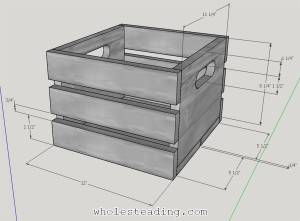 Wood Crate Dimensions